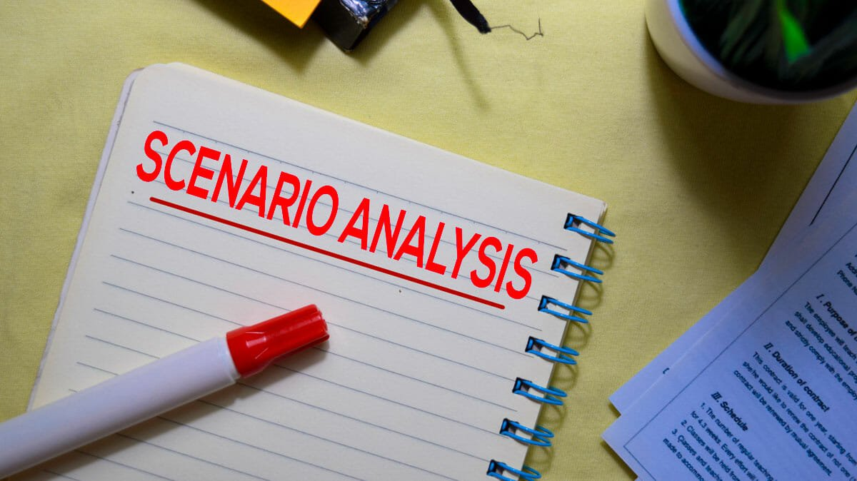 scenario analysis using custom financial model